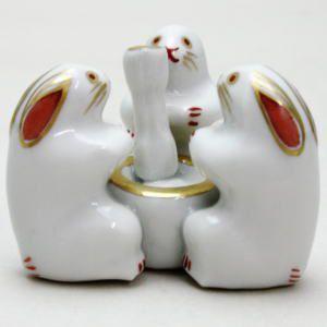 「茶器/茶道具 蓋置き」 三つ兎 高野昭阿弥作(和楽庵)|imaya-storo