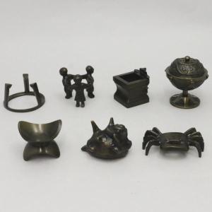 「茶器/茶道具 蓋置き」 唐銅蓋置 七種蓋置セット 哲匠作|imaya-storo