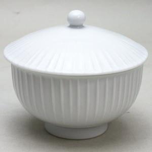 「蓋付湯のみ」 白磁 立筋 白山陶器製 1客〜 imaya-storo