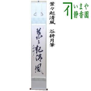 茶道具 掛軸 掛け軸 一行 葉々起清風 谷耕月筆 imaya-storo