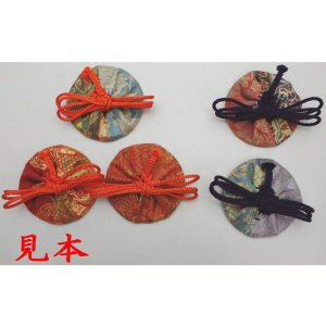 「茶道具 香道具 香入れ」 茶道具用 志野袋 (志の袋) 紐の色:朱又は紫