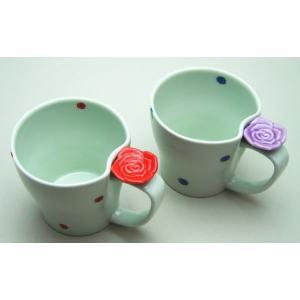 マグカップ 有田焼 バラに水玉|imaya-storo