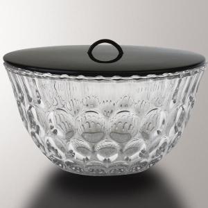 「茶器/茶道具 水指(水差し)」 ガラス(硝子) 平水指 水玉 長寿作|imaya-storo
