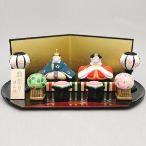 「雑貨 置物 ひな祭り」 王朝雛人形 半月盆 雛祭り 蜻山作 imaya-storo
