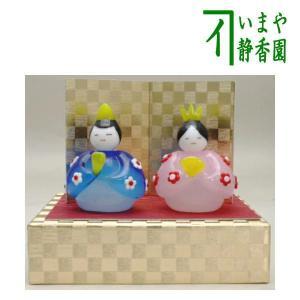 「雑貨 置物 雛祭り」 ガラス ミニ 内裏雛 imaya-storo