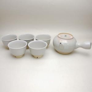 「煎茶道具 茶器セット」 萩焼き 番茶器セット 曙作 (湯のみ5客・急須) imaya-storo