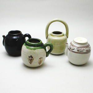 「茶道具 茶入セット(濃茶器セット)」 四滴茶入 蓋1個付 加藤五陶作|imaya-storo