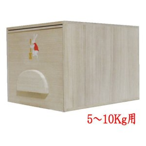 日用品 雑貨 米櫃 米蔵 米びつ かわいい模様入り 桐製 5〜10kg用|imaya-storo