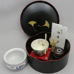 「茶器/茶道具セット 千歳盆セット」 普及品 千歳盆真塗プラスチック8点セット|imaya-storo