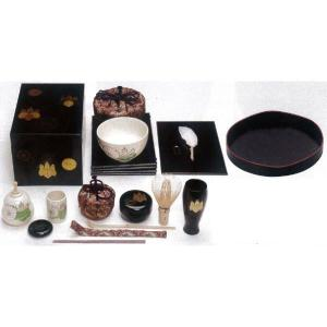 「茶器/茶道具 茶箱セット」 茶箱点前掻合13点セット (山道盆の時) imaya-storo