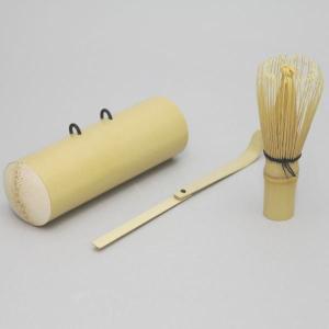 「茶器/茶道具 野点籠用品」 茶筅&茶杓&茶筌筒3点セット imaya-storo