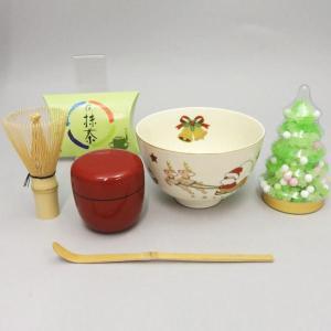 「茶器/茶道具 茶道具セット」 クリスマス抹茶茶碗5点+金平糖付セット