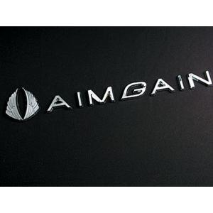 AIMGAINメタルロゴ(クロームメッキ) エイムゲイン|imcshop