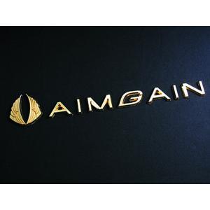 AIMGAINメタルロゴ(ゴールド) エイムゲイン|imcshop