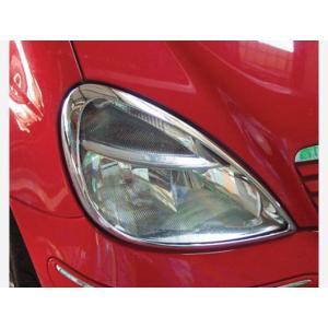 メルセデスベンツ Aクラス W168 ヘッドライトクロームリム|imcshop
