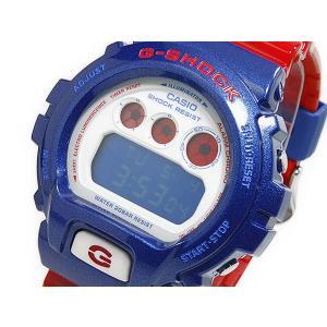カシオ CASIO Gショック G-SHOCK 逆輸入 デジタル メンズ 腕時計 DW6900AC-2 ネイビーブルー×レッド