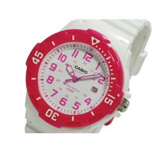 カシオ CASIO 逆輸入 スポーツ ダイバールック レディース 腕時計 LRW-200H-4B ホワイト×ピンク ラバーベルト