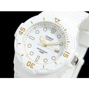 カシオ CASIO 逆輸入 スポーツ ダイバールック レディース 腕時計 LRW-200H-7E2 ホワイト×ゴールド ラバーベルト