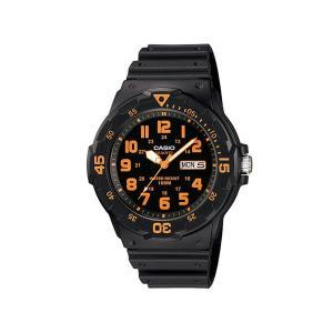 カシオ スポーツ CASIO SPORTS 逆輸入 ダイバールック メンズ 腕時計 MRW-200H-4B ブラック×オレンジ ラバーベルト