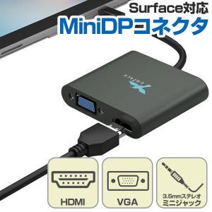 HDMI/VGA接続可能な外部モニターやプロジェクターに外部出力が可能なMini DPケーブル接続変...