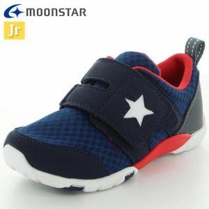 ムーンスター シューズ キッズ キャロット MS C2166 ネイビー 12178635 カジュアルシューズ 子供靴 シンプルなデザイン メッシュと合|imoto-sports
