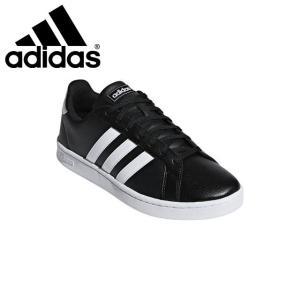 アディダス メンズ レディース スニーカー GRANDCOURTLEAU カジュアル シューズ 定番 靴 ブラック ユニセックス adidas F36|imoto-sports