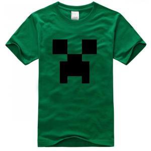 マインクラフト MINECRAFT  メンズ Tシャツ (M/L) マイクラ グッズ コスプレ クリーパー (グリーン) impactlife55