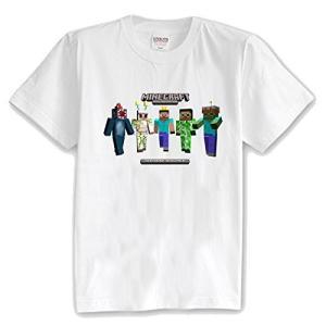 マインクラフト Minecraft キッズ Tシャツ 子供服 マイクラ グッズ コスプレ スキン&モンスター (ホワイト)|impactlife55