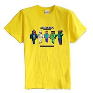マインクラフト MINECRAFT メンズ Tシャツ (M/L) マイクラ グッズ コスプレ スキン&モンスター (イエロー) impactlife55