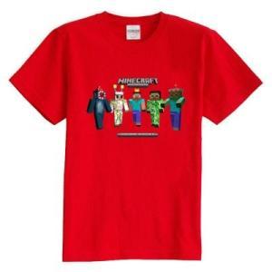 マインクラフト MINECRAFT メンズ Tシャツ (M/L) マイクラ グッズ コスプレ スキン&モンスター (レッド) impactlife55