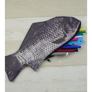 フナペンケース 魚ポーチ 鮒 筆箱 小物入れ 財布 アクセサリーポーチー 個性的 かわいい ペンケース|impactlife55