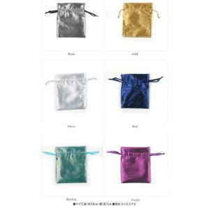 選べる6種類ポーチ アクセサリーや小物入れに♪ 【プチ包装グッズ】テカテカサテンのカラフル巾着袋(小)10x7cm 1枚売り