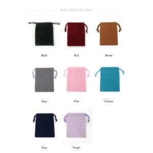 選べる8種類ポーチ 小サイズ 8色 高級感たっぷりのスエードタッチ巾着袋(長方形型)1枚売り アクセサリーや小物入れに|imperialarts|02