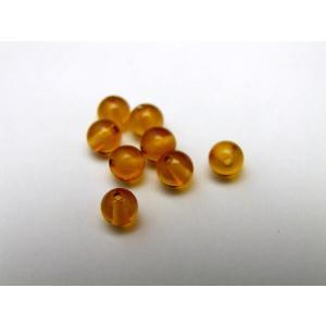 天然琥珀 アンバー・琥珀(Amber)/繁栄/安泰/帝王/全体運/お守り 4mm玉 1粒売り 天然石...
