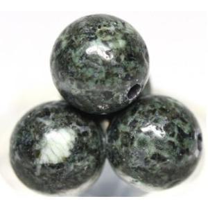 天然石 ストーンヘンジの石 <プレセリブルーストーン> 丸玉 約6mm 穴あり 1粒売り パワーストーン