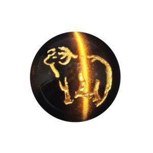 未(ひつじ) 虎目石(金色入り)12mm【彫刻 一粒売りビーズ】 天然石 パワーストーン