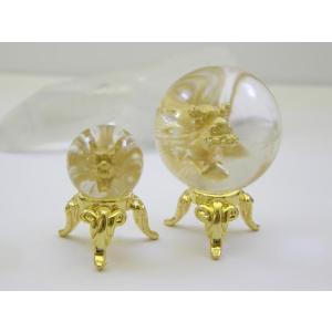 天然水晶にゴールド龍が浮き出る 丸玉(36mm) 送料無料 ...