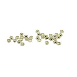 30個セット つぶし玉(かしめ玉) 2.0×1.2mm 銀色 メール便OK アクセサリー 製作パーツ