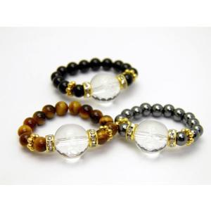 選べる3種類 彫刻リング・指輪 水晶 不動心 天然石 パワーストーン