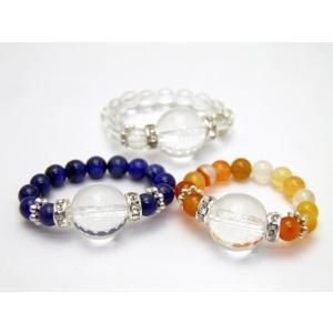 選べる3種類 彫刻リング・指輪 水晶 合格祈願 天然石 パワ...