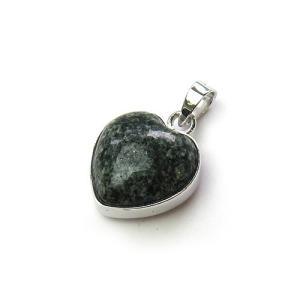 天然石 ストーンヘンジの石 <プレセリブルーストーン> ハート型 ペンダントトップ 12x12mm パワーストーン
