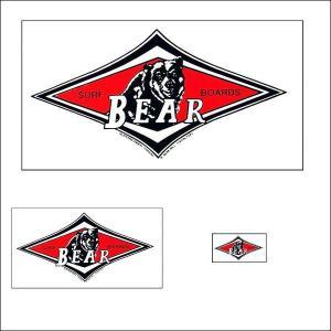 BEAR・ベアー 人気定番ステッカー 3枚セット ビッグウエンズデー|imperialsurf