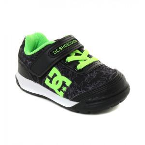 DC SHOES ディーシー 子供用 運動靴キッズスニーカー Ks MEDALIST DK184602A BKG(ブラックグリーン) 18cm|imperialsurf
