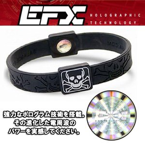 EFXイーエフエックス リストバンドスポーツ パフォーマンス日本正規品 Black & WhiteSkull & Crossbones|imperialsurf