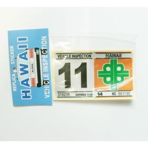 ハワイの車検ステッカー VEHICLE INSPECTIONレプリカ 人気のシール|imperialsurf|04