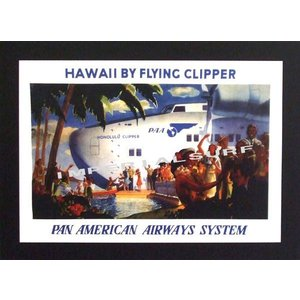 人気のハワイアンポスターパンアメリカン航空(通称PANAM/パンナム)のトラベルポスター hawaiianposter エアライン imperialsurf