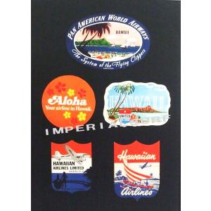 人気のハワイアンポスター アロハ航空のラベルを集めたコレクションポスター hawaiianposter エアライン imperialsurf
