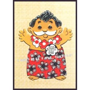人気のハワイアンポスター ユナイテッド航空のハワイ旅行キャンペーンで大人気のメネフネおじさん hawaiianposter imperialsurf