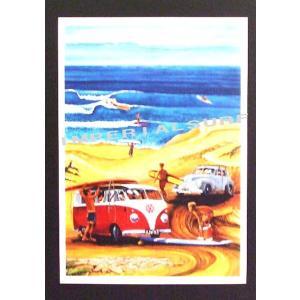 人気のハワイアンポスター ワーゲン サーファー 波 hawaiianposter サーフィン&車 imperialsurf