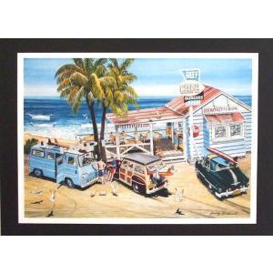 人気のハワイアンポスター オールドアメリカンな雰囲気 hawaiianposter サーフィン&車 imperialsurf